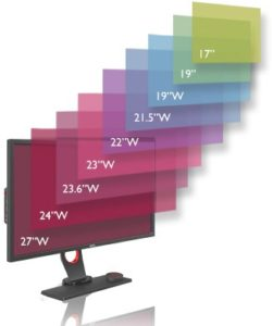 size in video editing monitor