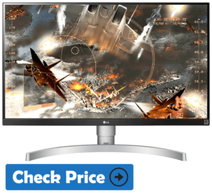 LG 27UK650-W gaming console monitor