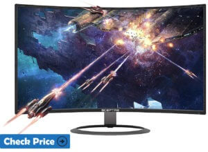 sceptre cheap curved monitor for video editing