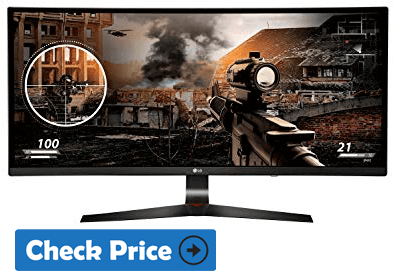 LG 34UC79G ultrawide monitor with curved screen