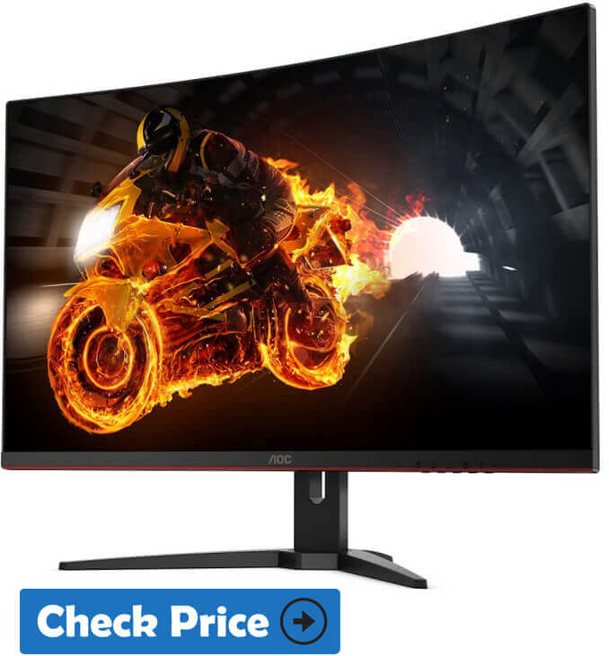 "AOC C32G1 32"" Curved Frameless Gaming Monitor under 300"