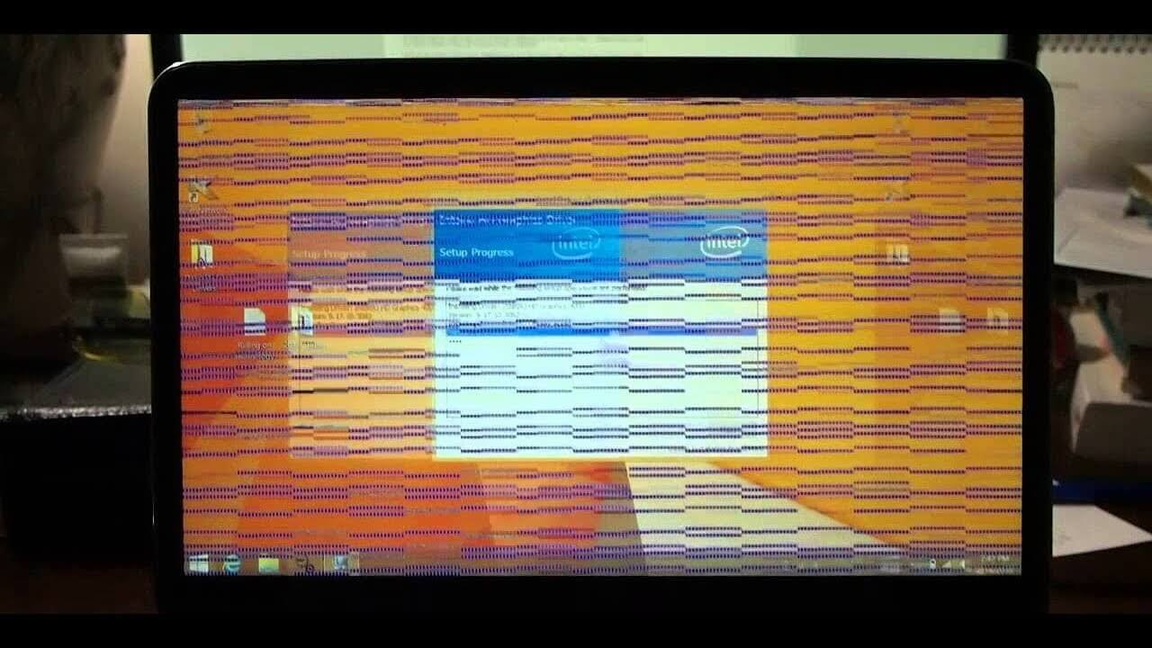 Flickering Display of monitor